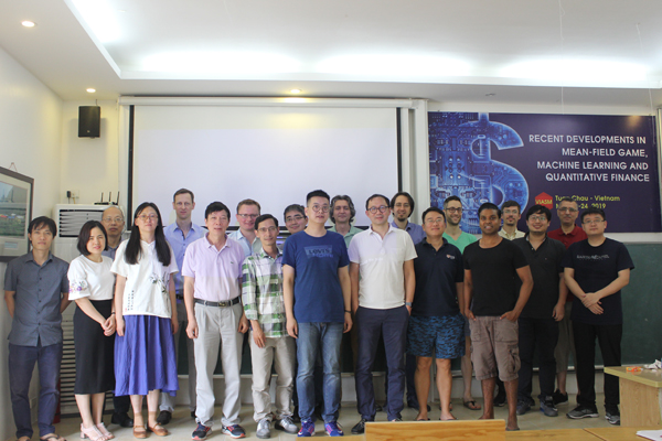Report on the workshop  ``Recent developments on mean-field games, machine learning and quantitative finance""