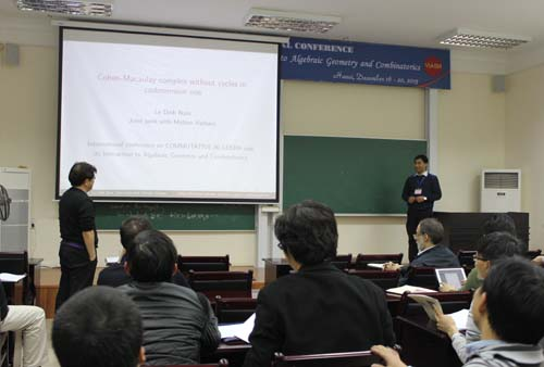 International conference on Commutative Algebra and Its Interaction to Algebraic Geometry and Combinatorics has opened