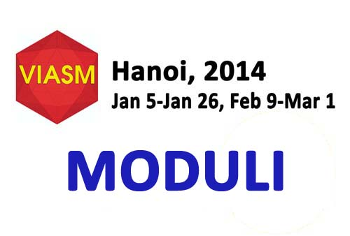 Moduli 2014 Workshop will be taking place from January 5 to March 1, 2014